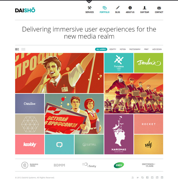 daisho Best 30 WordPress Themes of June 2012
