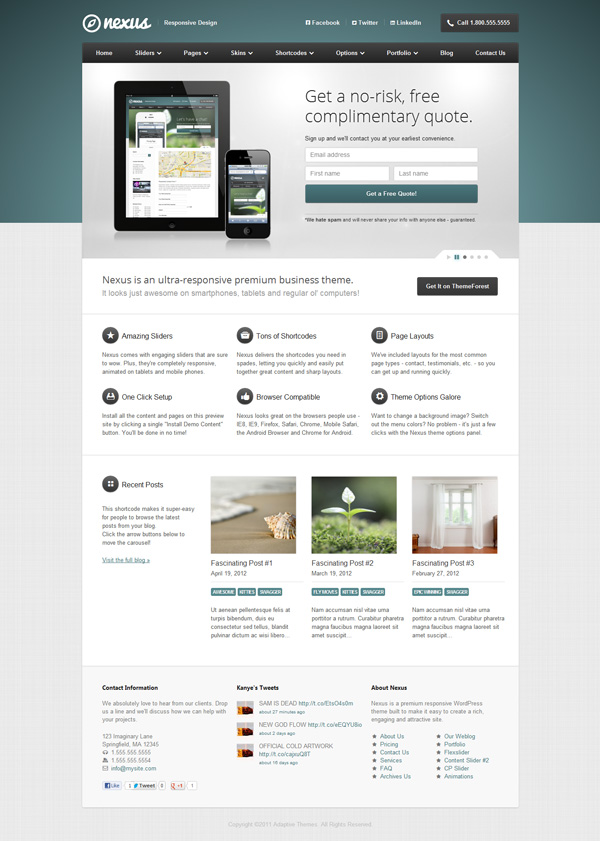 nexus Best 30 WordPress Themes of June 2012