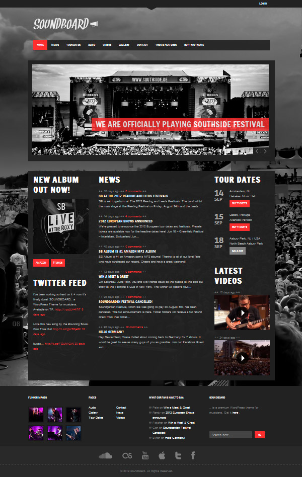 soundboard Best 30 WordPress Themes of June 2012