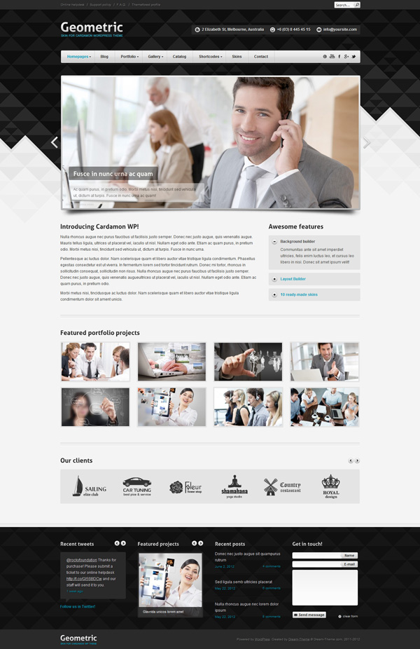 cardamon Best 30 WordPress Themes of June 2012