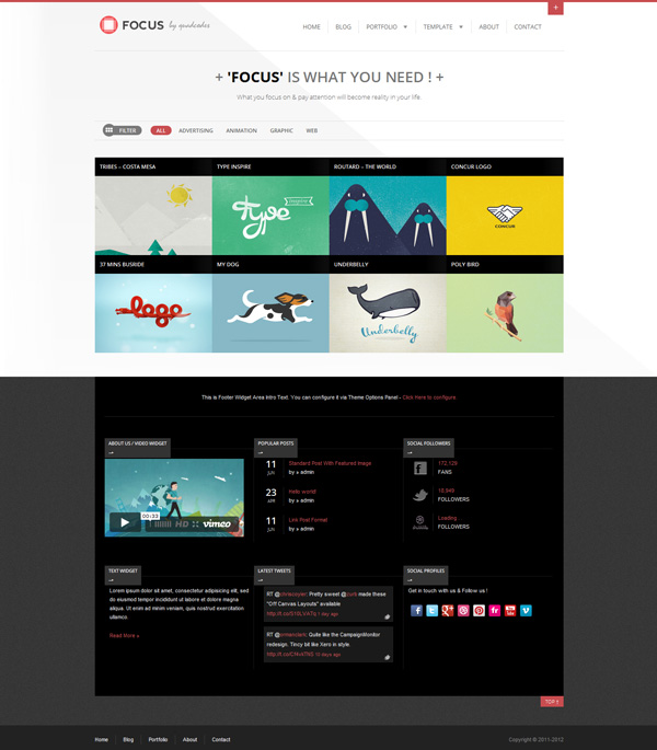 focus Best 30 WordPress Themes of June 2012