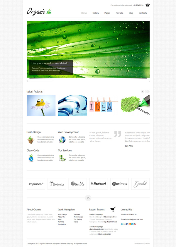 organic Best 30 WordPress Themes of June 2012