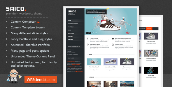 saico 35 Impressive WordPress Themes of April 2012