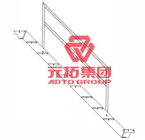 aluminum stair handrail
