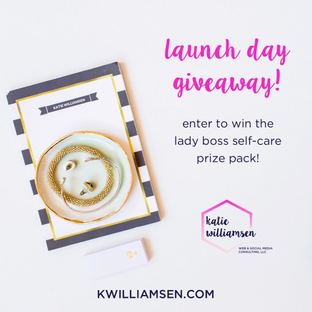 Launch Day Giveaway // Katie Williamsen Web & Social Media, LLC