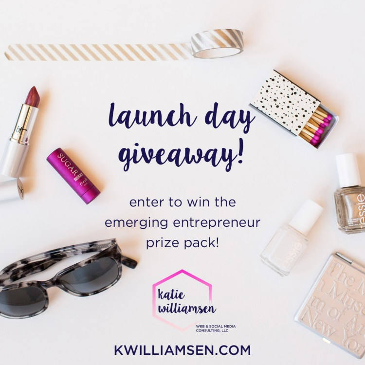 Launch Day Giveaway 2 // The Emerging Entrepreneur Prize Pack // Katie Williamsen Web & Social Media, LLC