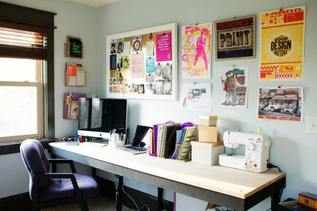 Social Media Mavens: Meghan of Meghan Maydel // Meghan's colorful office filled with Hatch Show Printer posters