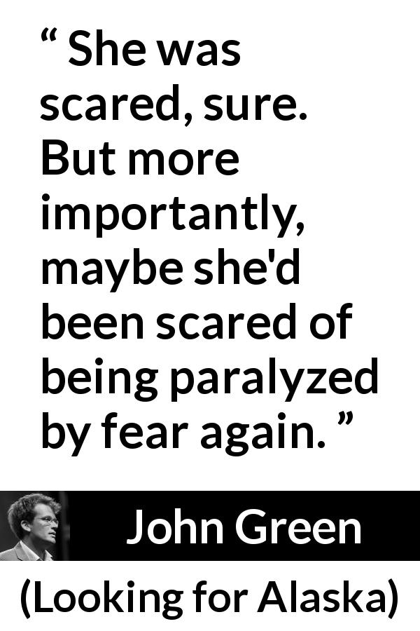 """""""She was scared, sure. But more importantly, maybe she'd"""