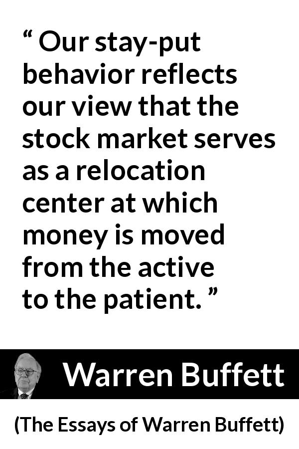 """""""Our stay-put behavior reflects our view that the stock"""