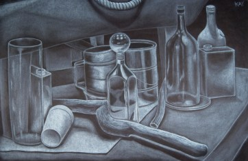 Still Life _ Midterm (White Charcoal)