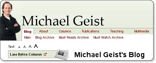 http://www.michaelgeist.ca/index.php