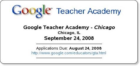 http://www.infinitethinking.org/2008/08/google-teacher-academy-chicago.html