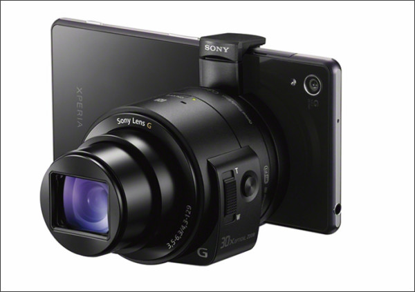 (SR5) Images of the QX30 camera-lens.