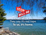 Stop Bill 66 | They say it's red tape. | To us, it's home.