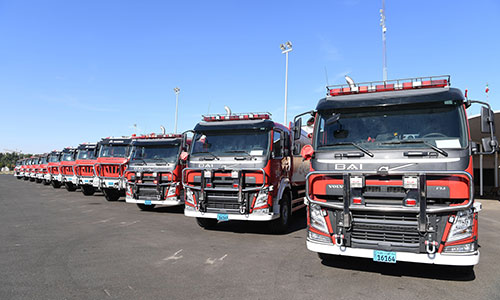 Kuwait's Fire Service introduced new equipment