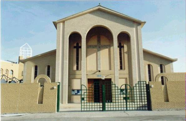Armed Man With Knife disrupts Catholic mass at the Holy Family Cathedral in Kuwait City