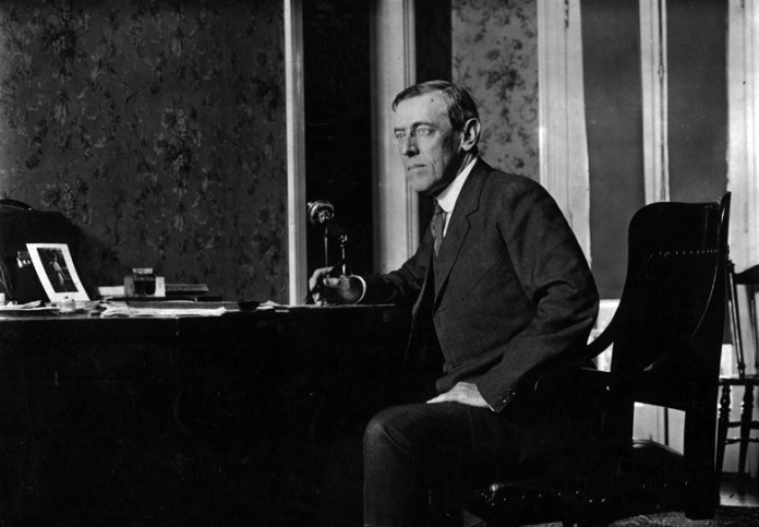 Woodrow Wilson (1856 – 1924) the 28th President of the United States of America.