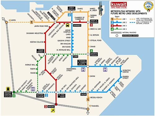 Kuwait Metro transport system by 2019