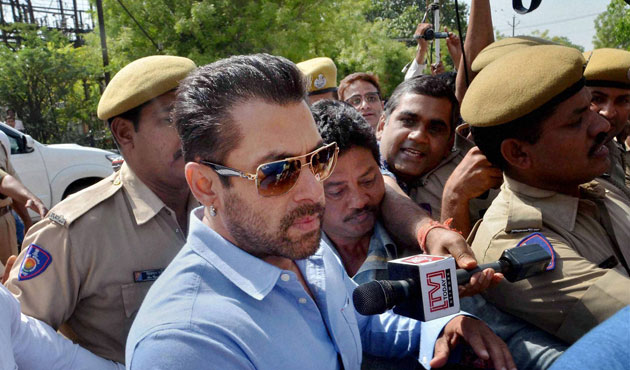 Salman Khan arrested after being sentenced to five years in prison