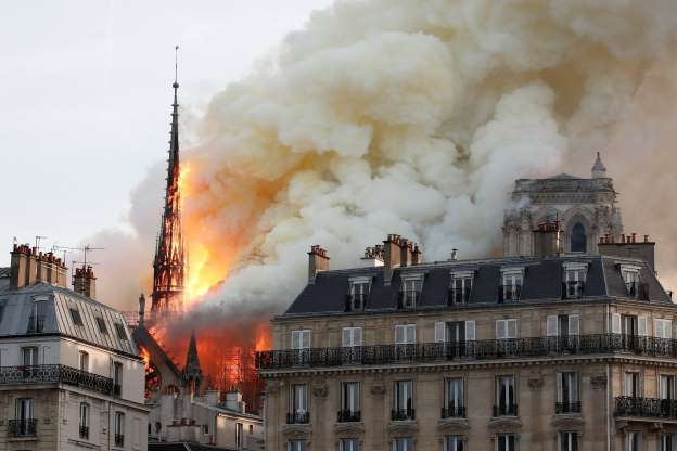 Huge Fire Breaks Out in Paris' Famous Notre Dame Cathedral