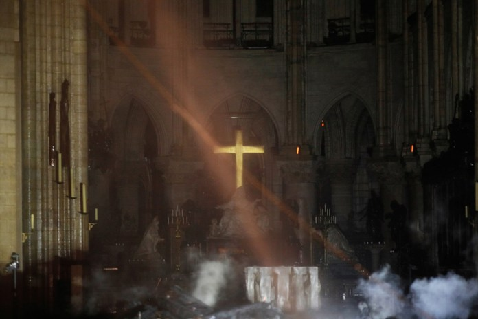 Notre Dame altar and cross remain miraculously untouched after fire