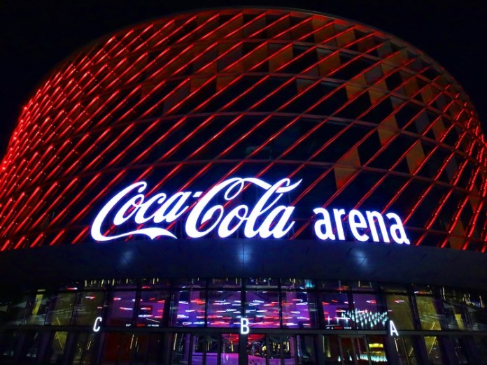 Iconic Coca Cola sign put up on Dubai's new live entertainment arena