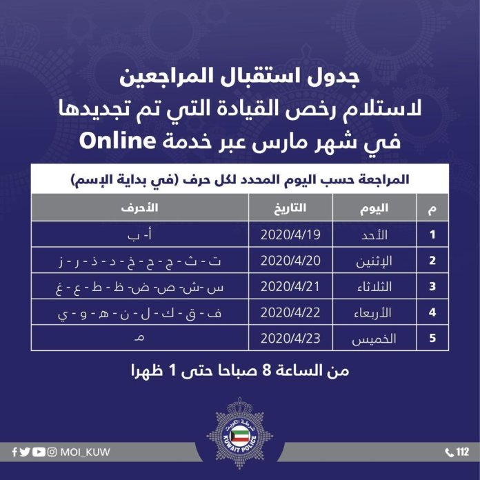 Online Renewed Driving License Can Be Collected From Traffic Department Starting April 19