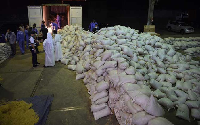 Worth half a million dinars of Narcotics substance seized by Kuwait MOI