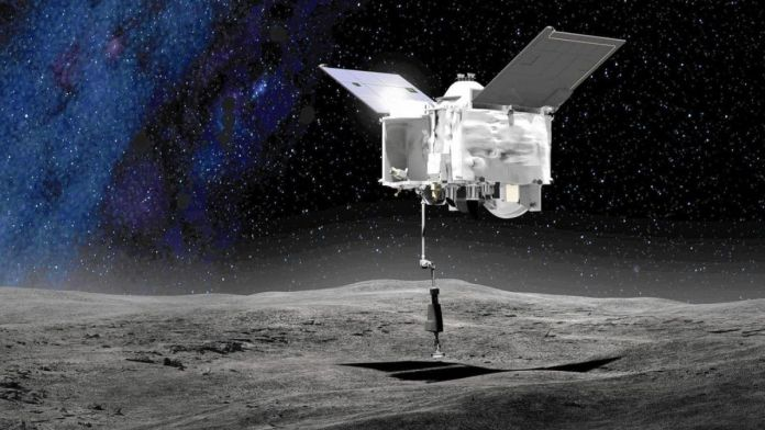 NASA's craft to return to earth carrying samples of an asteroid
