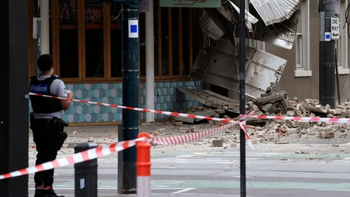 5.9 magnitude earthquake struck south-east Australia