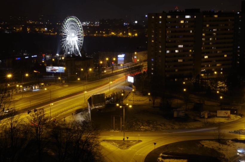 Osiedle Tysiąclecia - Katowice - widok na Wesołe Miasteczko