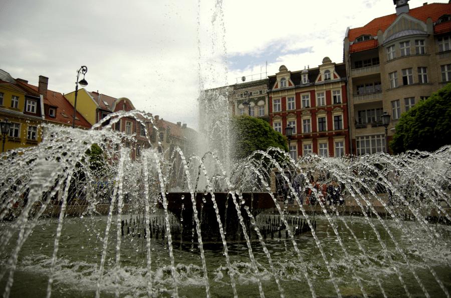 Wałbrzych fontanna na rynku