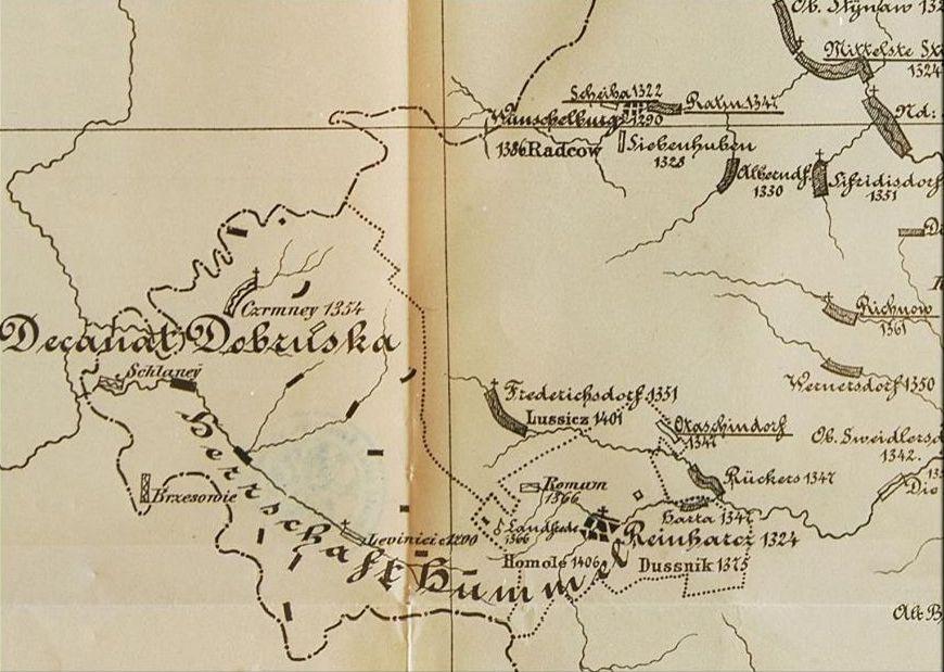 Czeski zakątek - Mapa