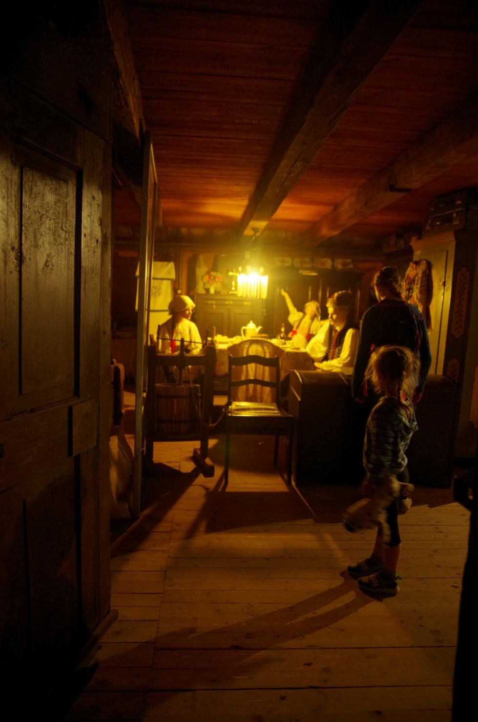 Czeski zakątek - Pstrążna - skansen wnętrze chaty