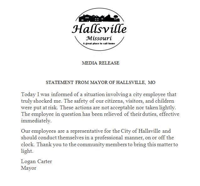 Hallsville Press Release