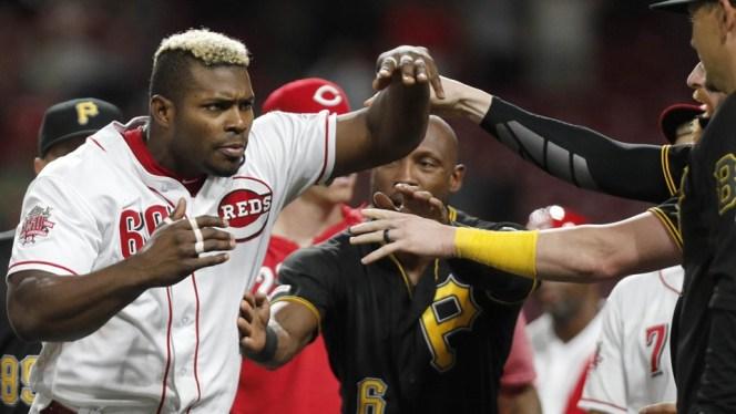 reds pirates brawl