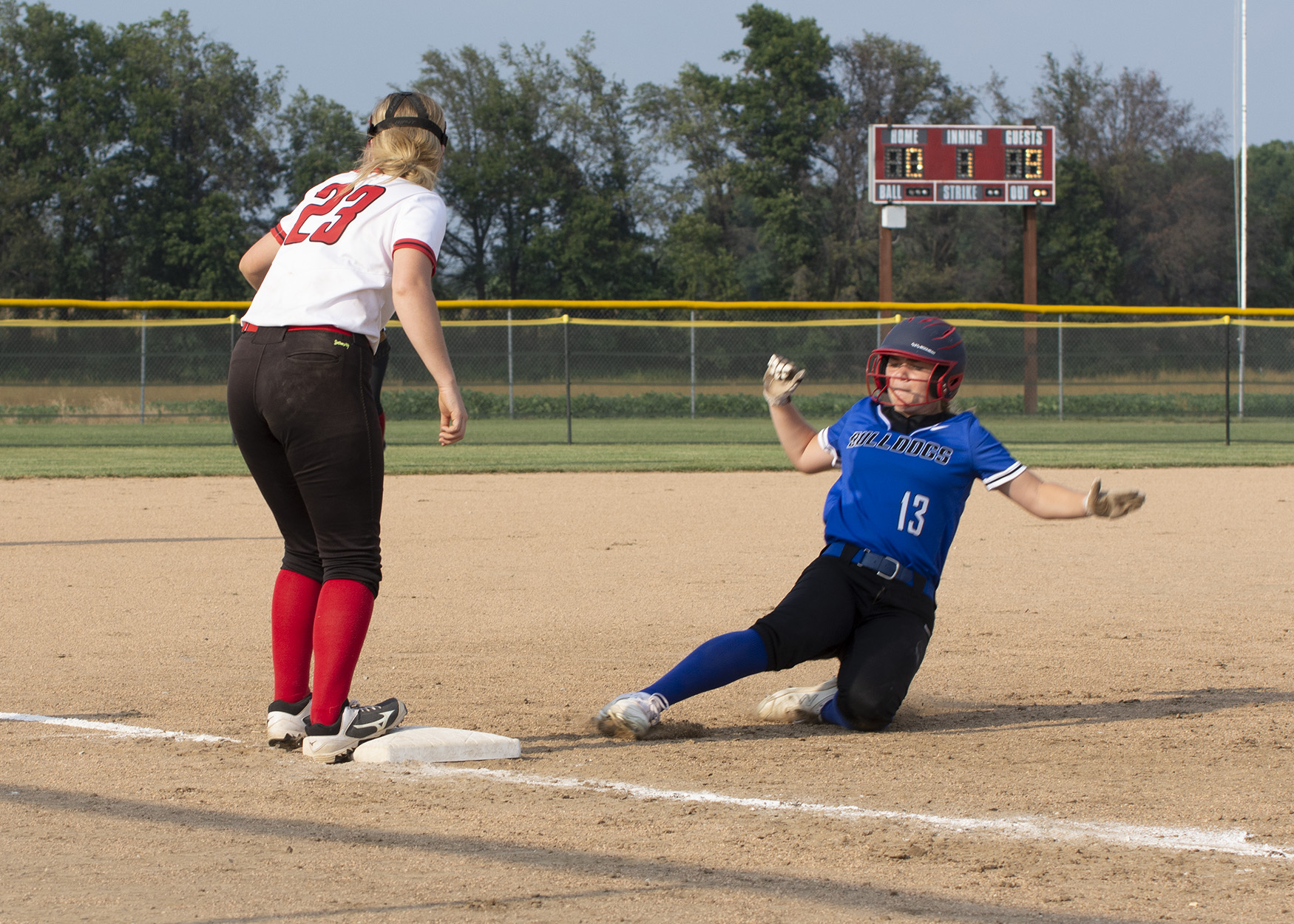Plenty Of Offense In Community R6 Lady Trojans Softball Home Opener Against South Callaway