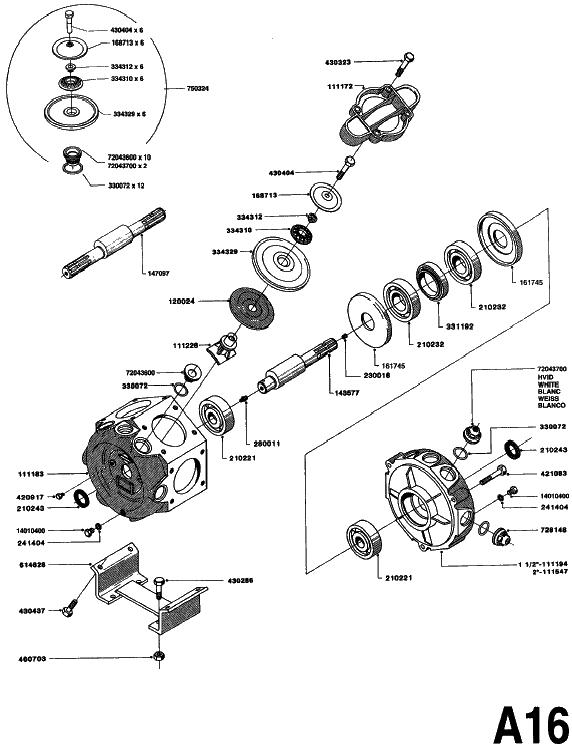 Hardi Pump 462 Spares