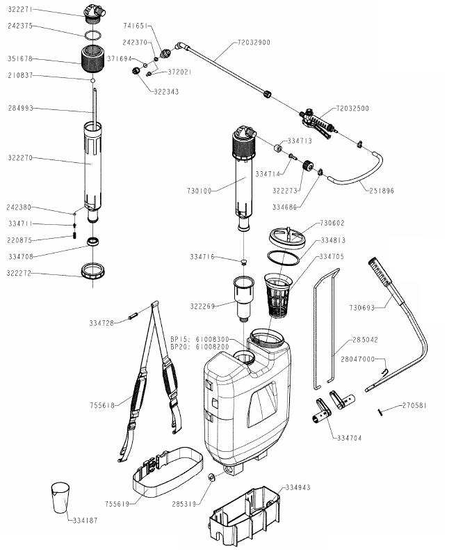 Hardi BP20 Parts Diagram