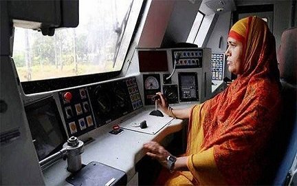 female train driver