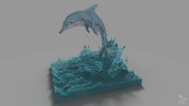 2016_[MagicaVoxel]_dolphin