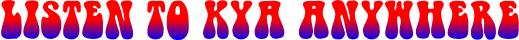 Listen To KYA Radio (Logo)