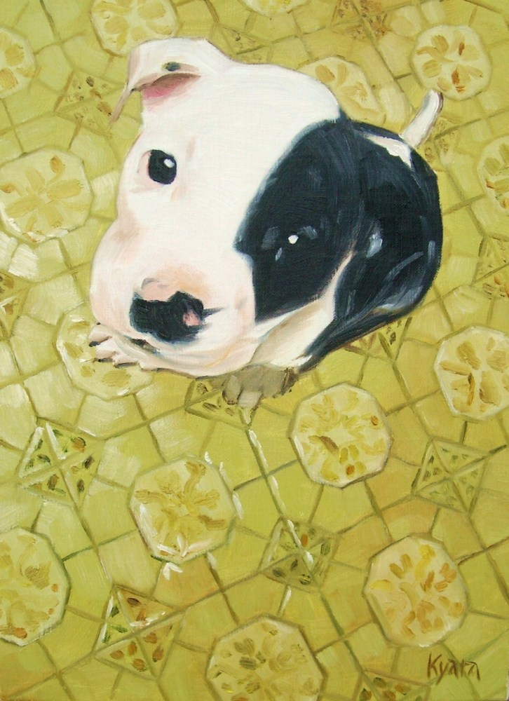 Another Baby-Pitbull Painting (1/4)