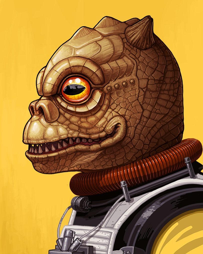 Bossk by Mike Mitchell