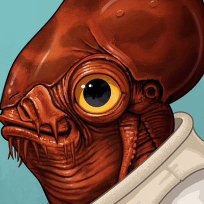 Admiral Ackbar by Mike Mitchell