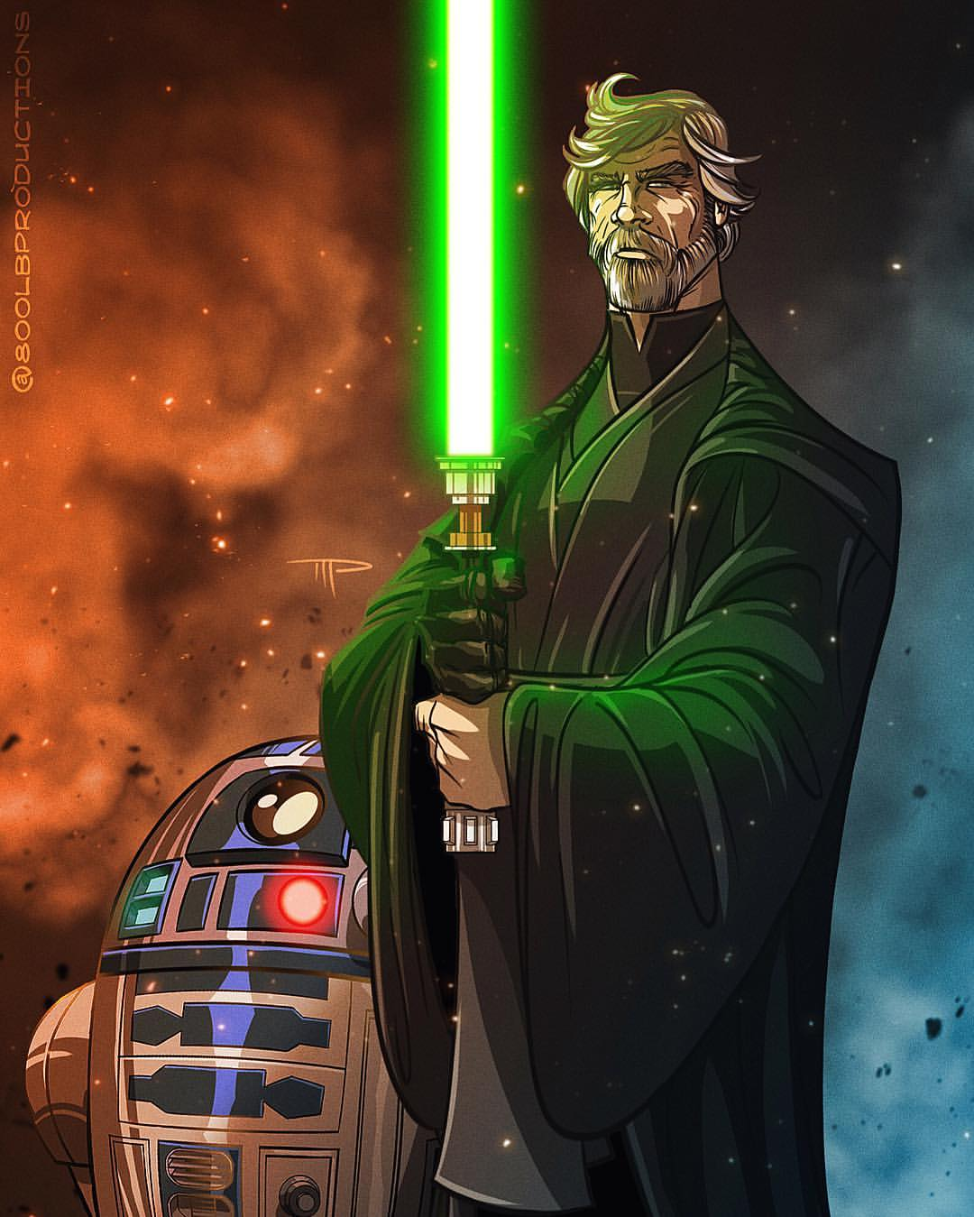 Luke & R2D2 by Michael Pasquale
