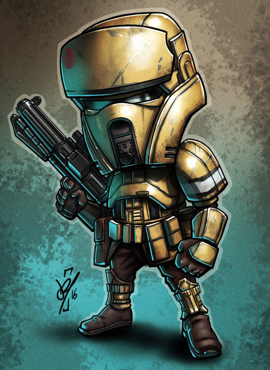 Chibi Shoretrooper by Darren Tibbles