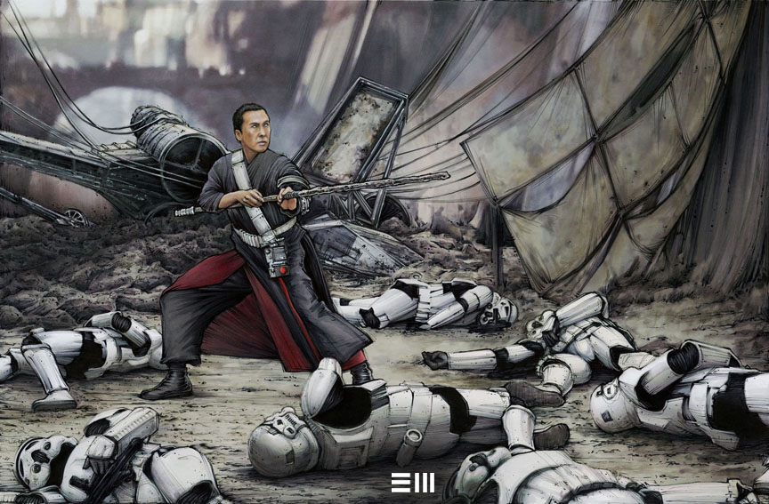 Chirrut & The Stormtroopers by Erik Mael