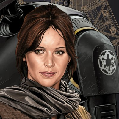 Jyn Erso & K2SO by Juan Carlos Ruiz Burgos