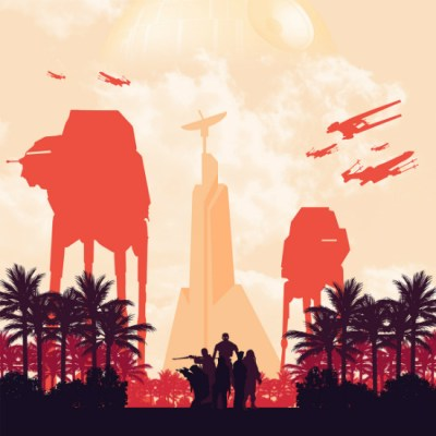 Minimalist Rogue One Poster by Alexander Perez